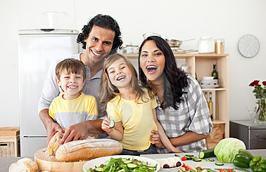 family kitchen 5 Habits of Healthy Families: From Family Dinners to the Backyard