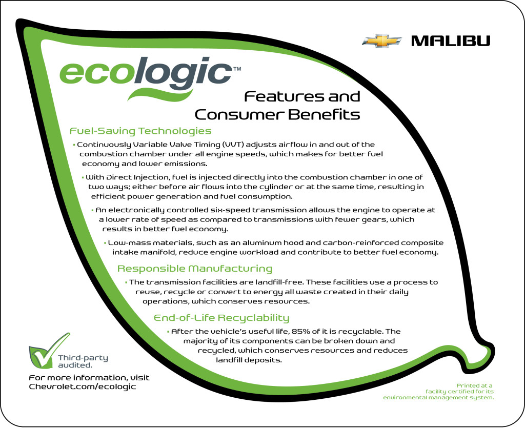 ECOLOGIC Malibu - ecologic scorecard for 2013