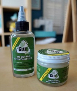 Glu6 glue and paste made from recycled styrofoam