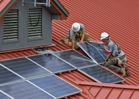 solar panels on roof - solar company