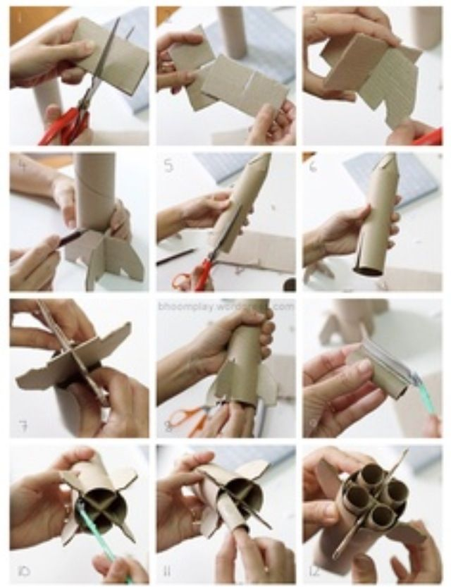 rocket - recycle ideas for kids