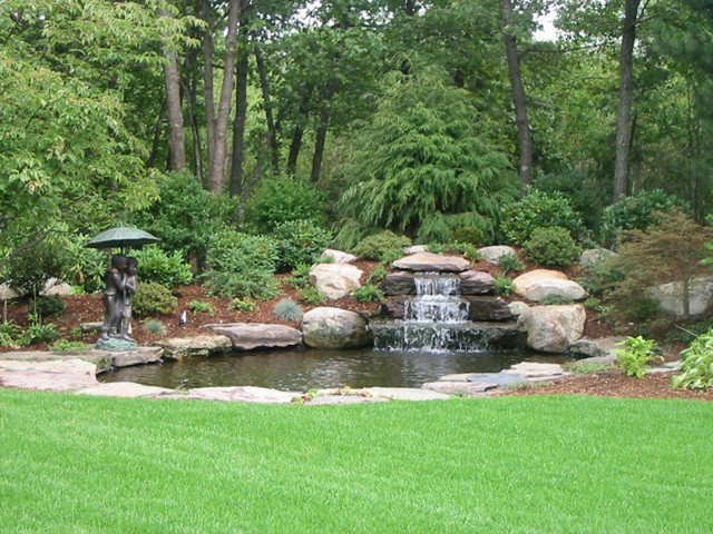 water accents - backyard waterfall