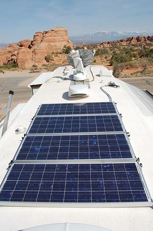 solar powered travel trailer