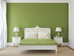 turning your bedroom green
