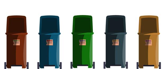 waste and disposal bins