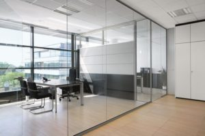 glass partitions in office