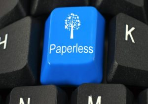 write green, go paperless