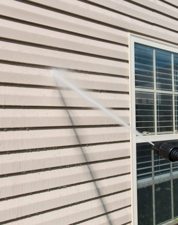 Pressure Washing Exterior of House